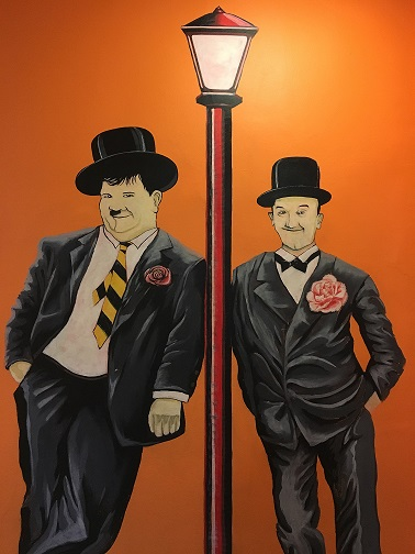 Woodford House - Laurel And Hardy Mural