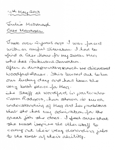 Woodford House - Thank You Note 10