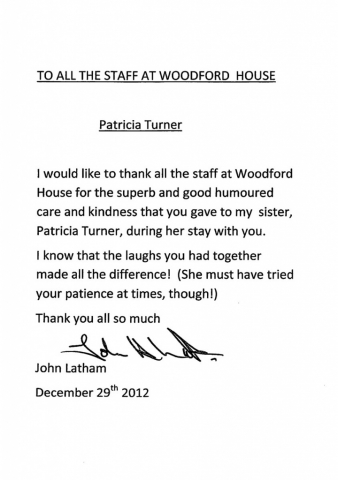 Woodford House - Thank You Note 6