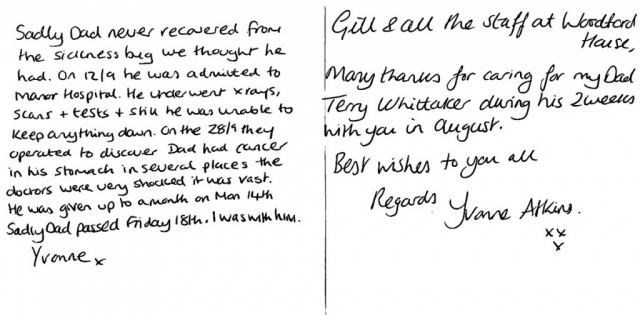 Woodford House - Thank You Note 8